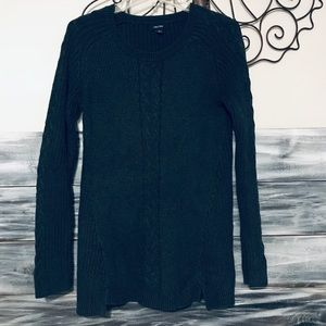 Nautica women's cable knit sweater long sleeve Lg.